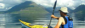Kayaking amidst the Skye Cuillin Hills